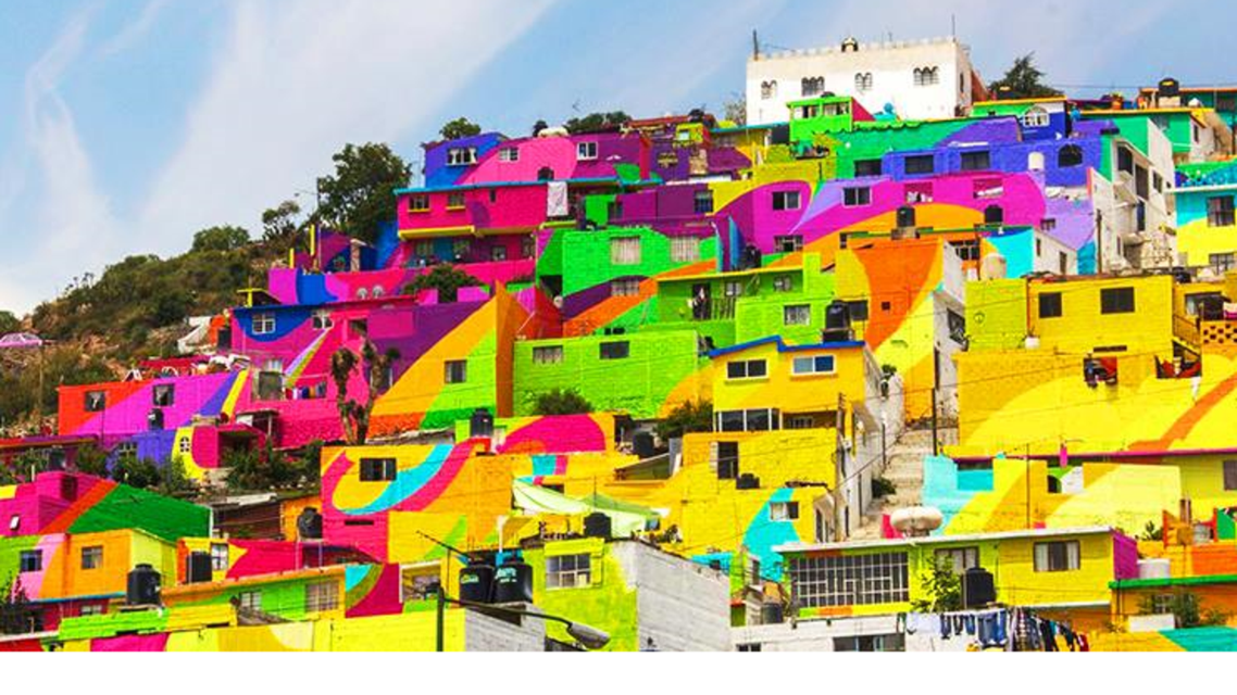 رنگ آمیزی خانه ها در کابل