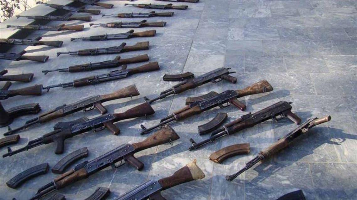 مخفی گاه سلاح طالبان در غزنی