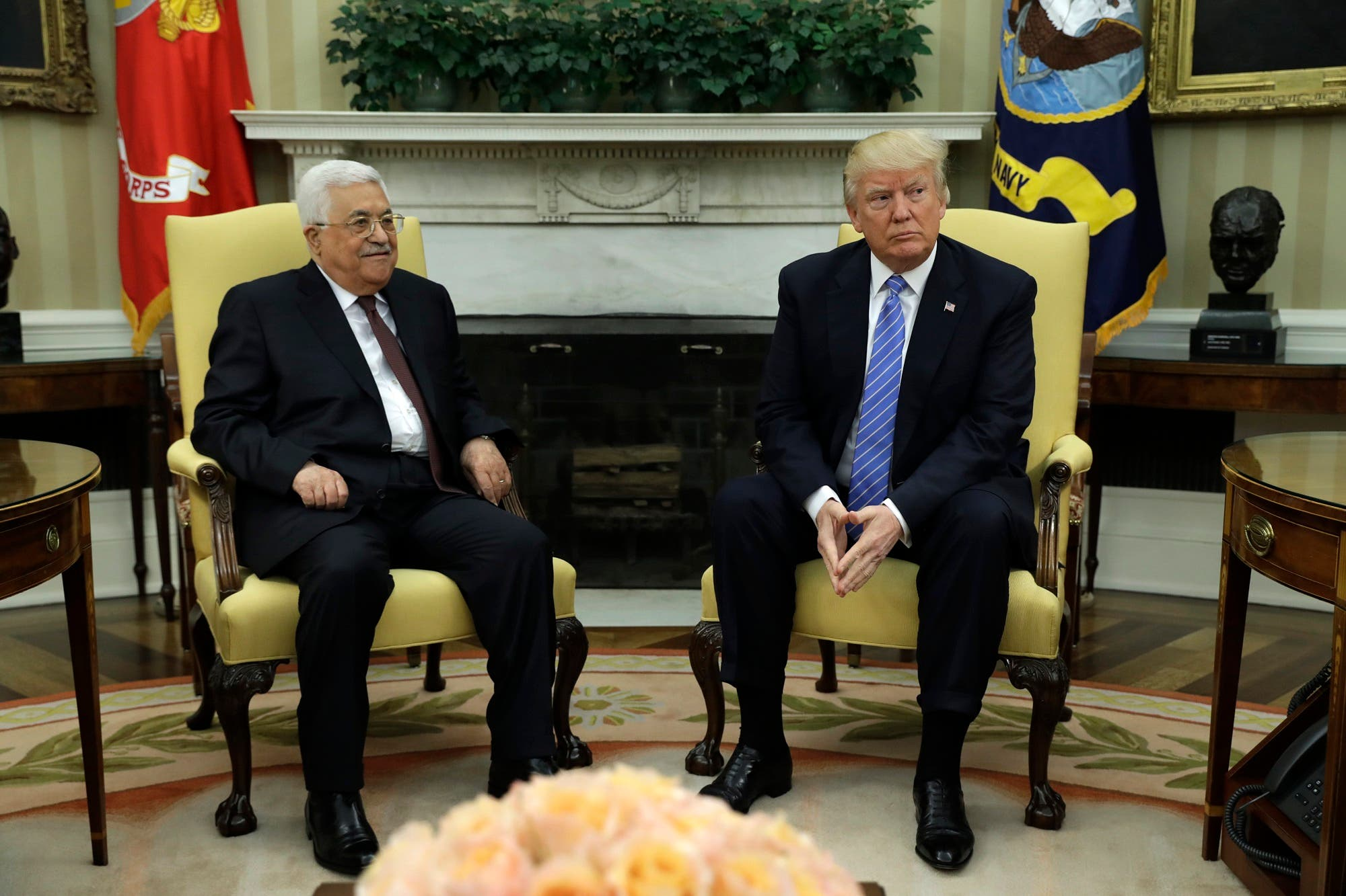 Abbas and trump. AP