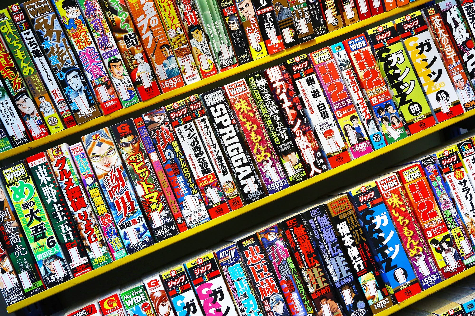 variety of manga comics from shutterstock