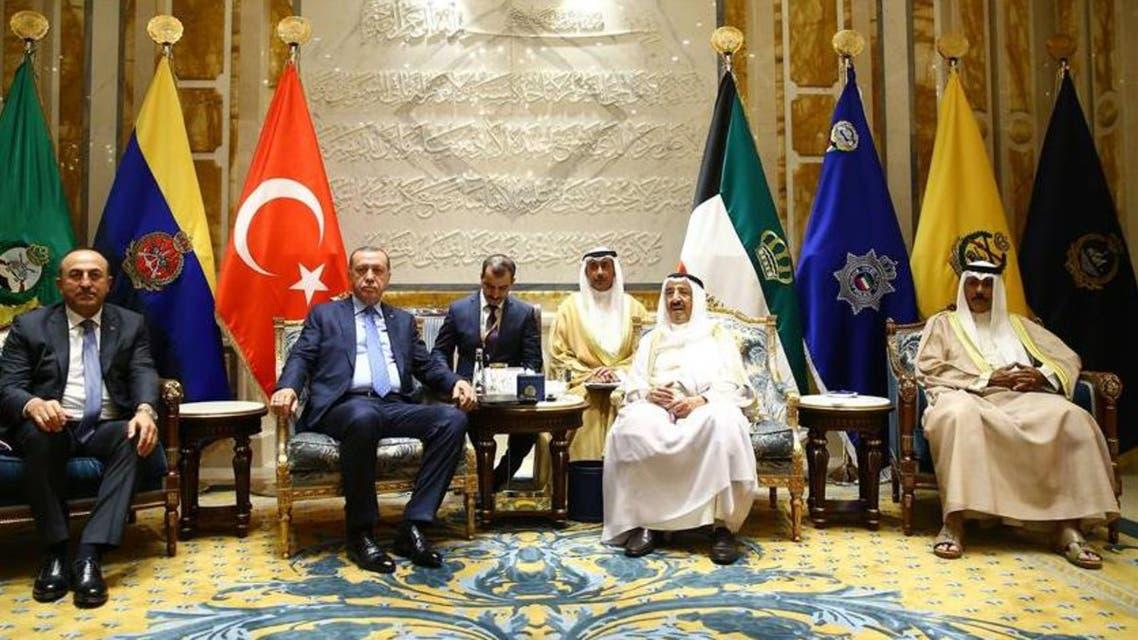 اردوغان وأمير الكويت