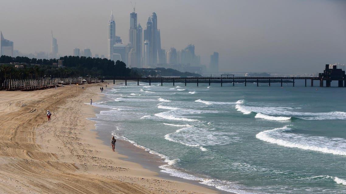 UAE beach, AFP