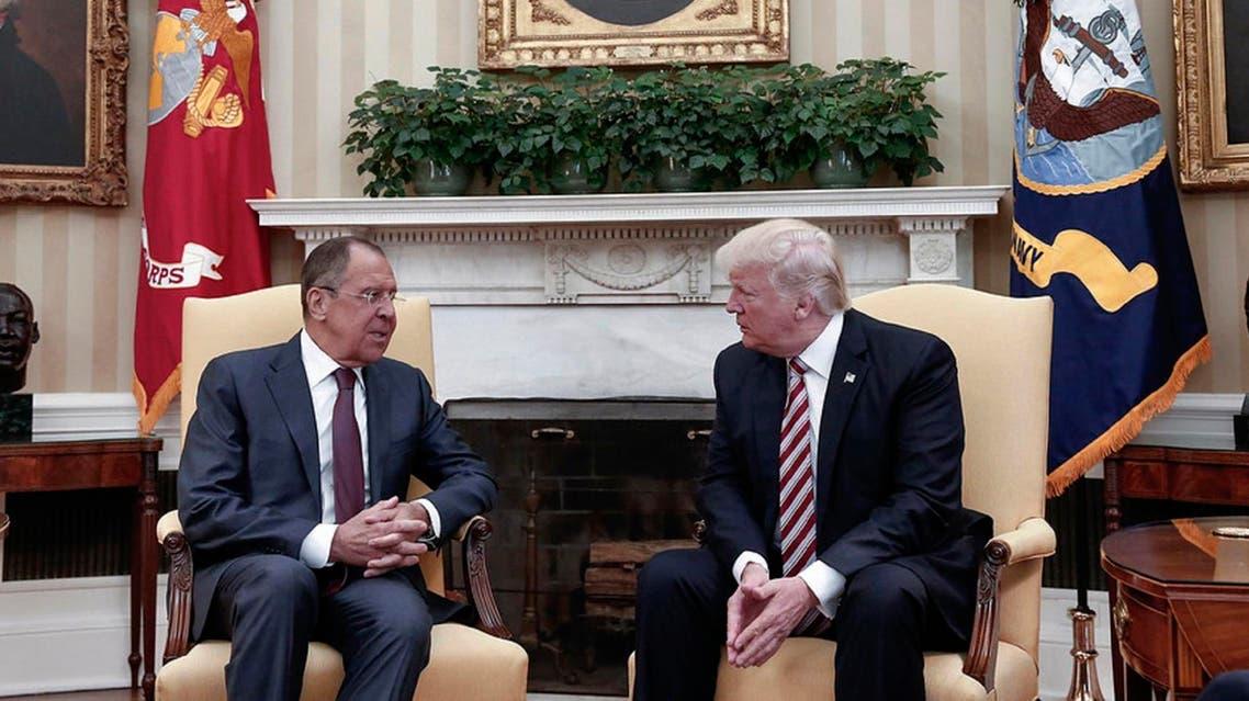 Sergei Lavrov met US President Donald Trump
