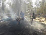 داعش يقصف ويحرق الغابات في الجانب الشرقي من الموصل