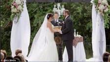 فيديو مضحك.. لماذا صفع العريس عروسه أثناء زفافهما؟