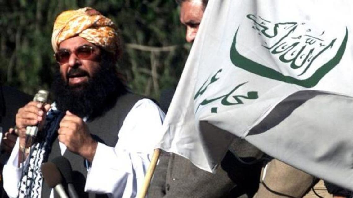 FILE PHOTO - Ghafoor Haideri speaks during an anti-U.S. rally in Islamabad, Pakistan, January 31, 2003. REUTERS/Mian Khursheed/File Photo