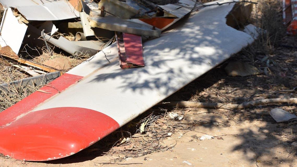 تحطم طائرة خفيفة توضيحية