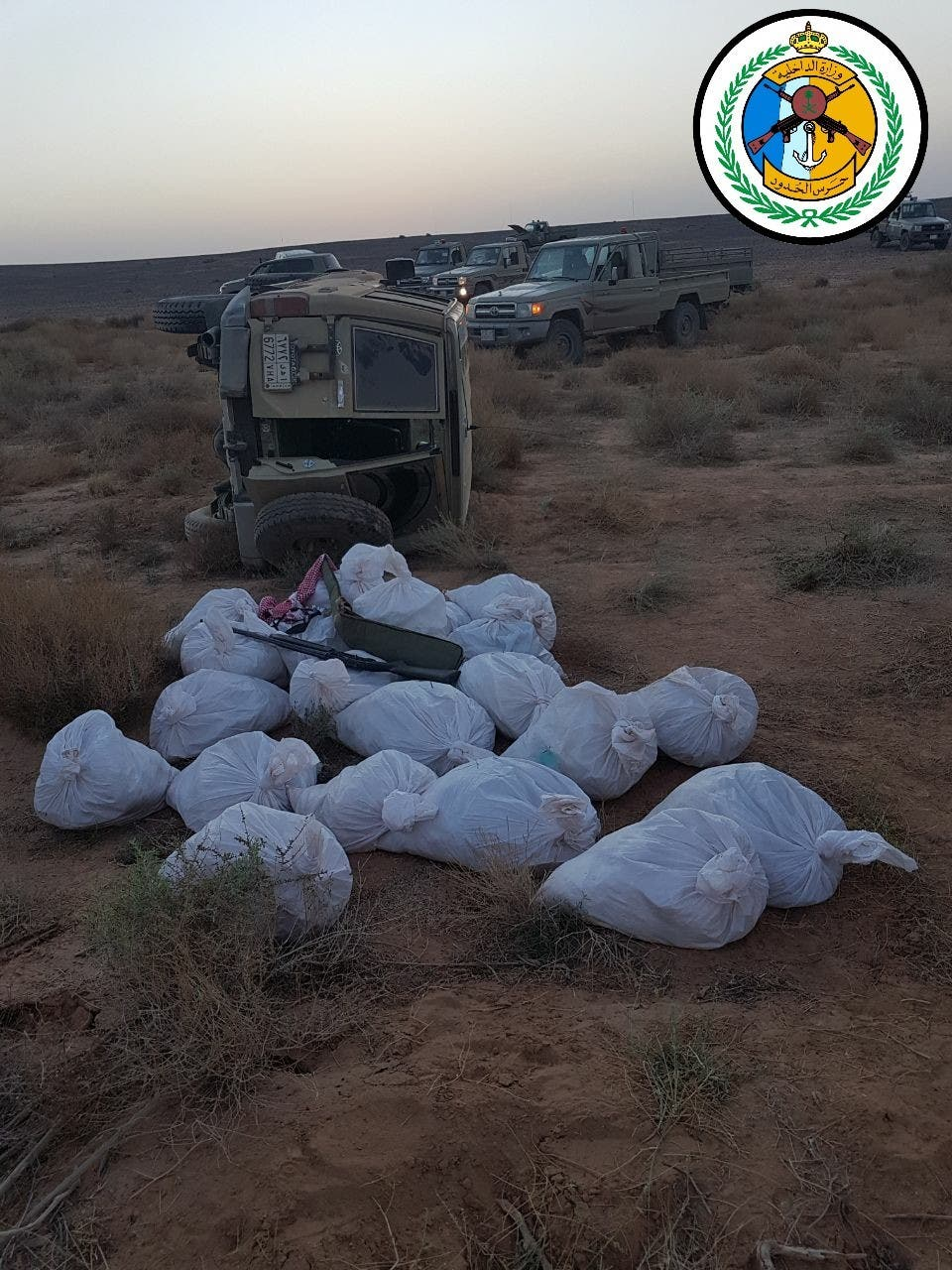 Saudi border police thwart smuggling attempt of 2 mln Captagon pills in al-Jawf