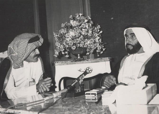 مع الشيخ زايد رحمه الله