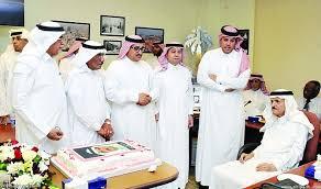 مع الزملاء في صحيفة الرياض