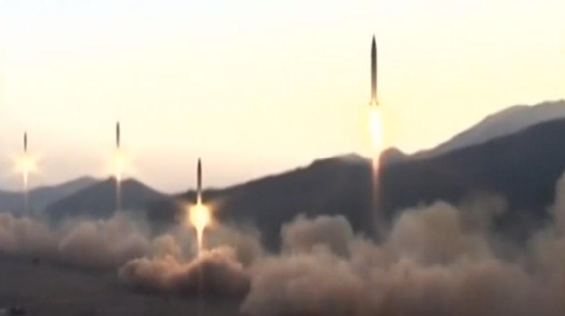 صورة أرشيفية لاطلاق صواريخ من كوريا الشمالية