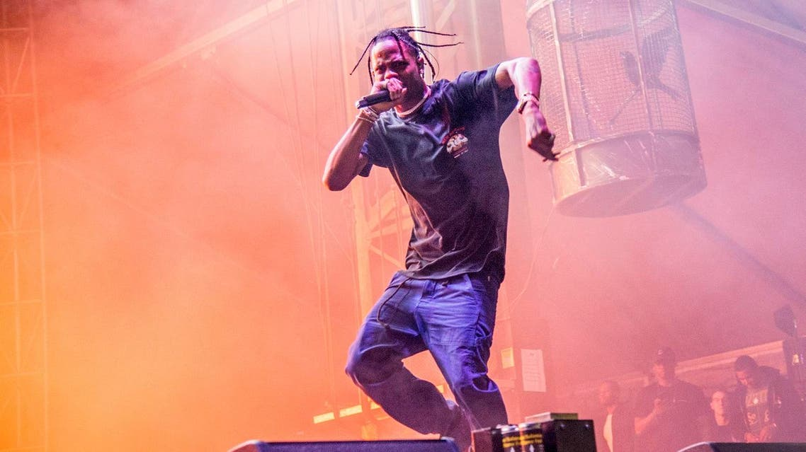 Travis Scott performs at BUKU Music and Art Project at Mardi Gras World on Friday, March 10, 2017, in New Orleans. (AP)