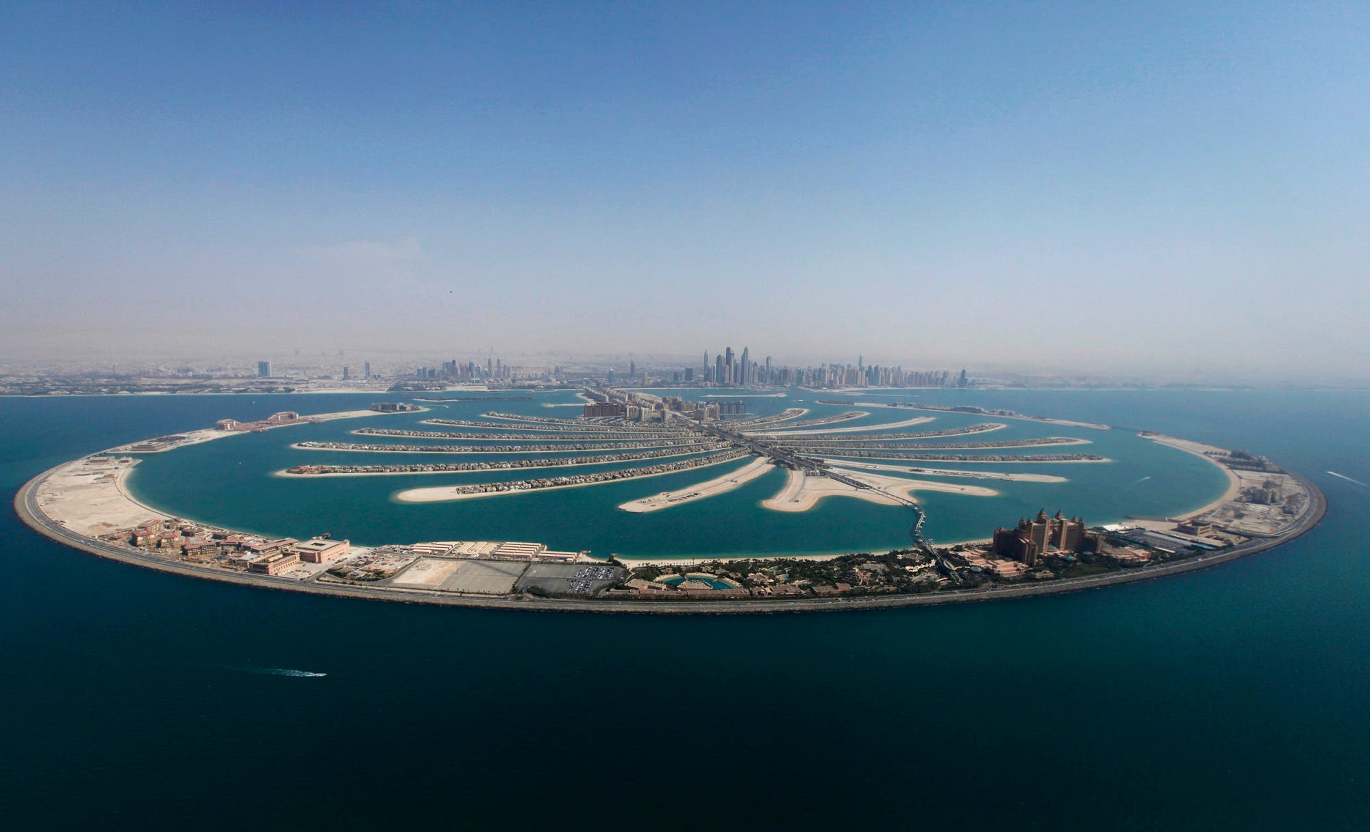 An aerial view of The Palm Jumeirah is seen in Dubai, August 31, 2012. (File Photo: Reuters)