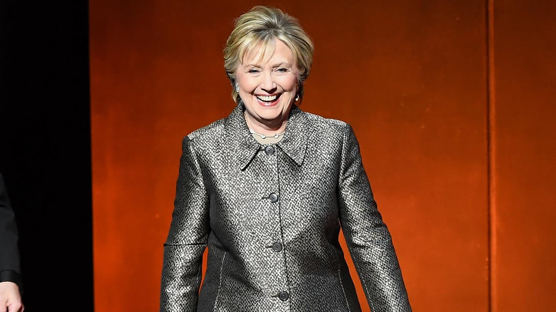 Former US Secretary of State Hillary Clinton arrives for the Eighth Annual Women in the World Summit at Lincoln Center for the Performing Arts on April 6, 2017, in New York City.  ANGELA WEISS / AFP