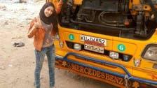 """بالصور.. """"سمر"""" جامعية مصرية تمتهن إصلاح كهرباء الشاحنات"""