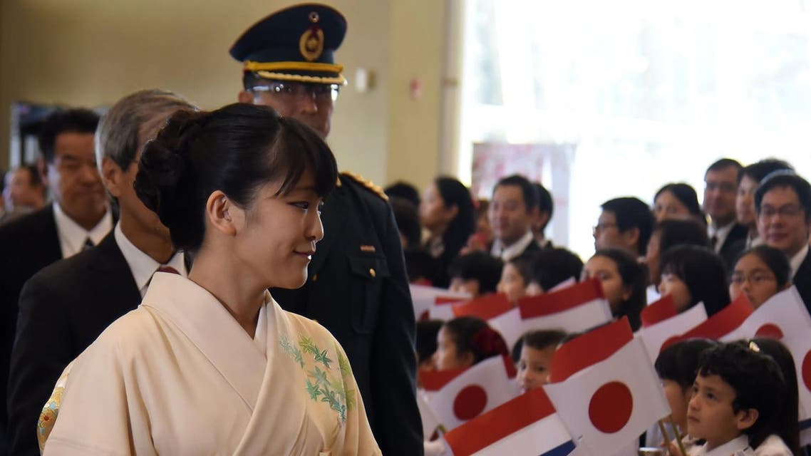 Japan's Princess Mako of Akishino arrives for a ceremony to officially celebrate the 80th anniversary of Japanese immigration to Paraguay. (File photo: AFP)