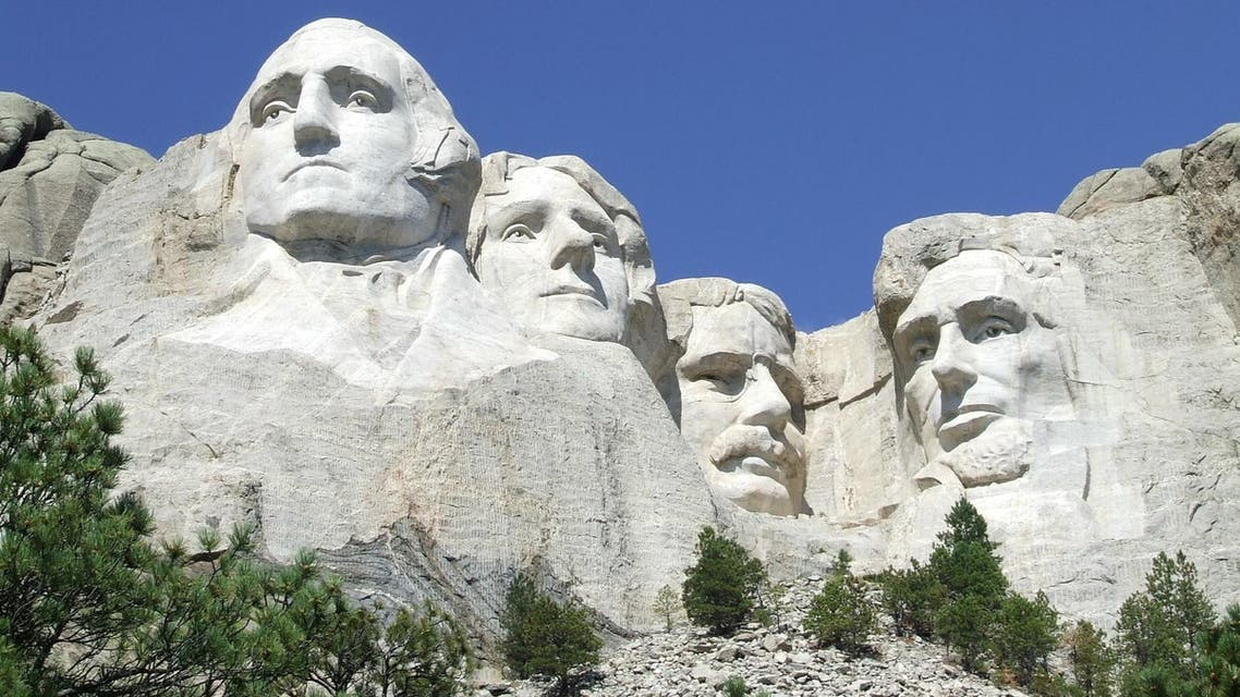 US presidents sculpted on Mount Rushmore National Memorial in the Black Hills region of South Dakota, US. (Reuters)