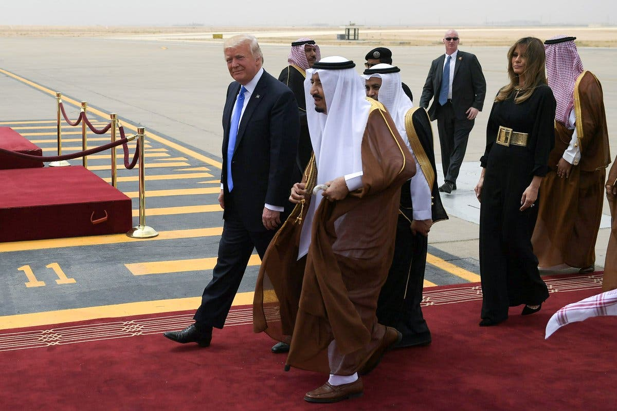 Melania Trump dons Arabic-inspired outfit on arrival to Saudi Arabia