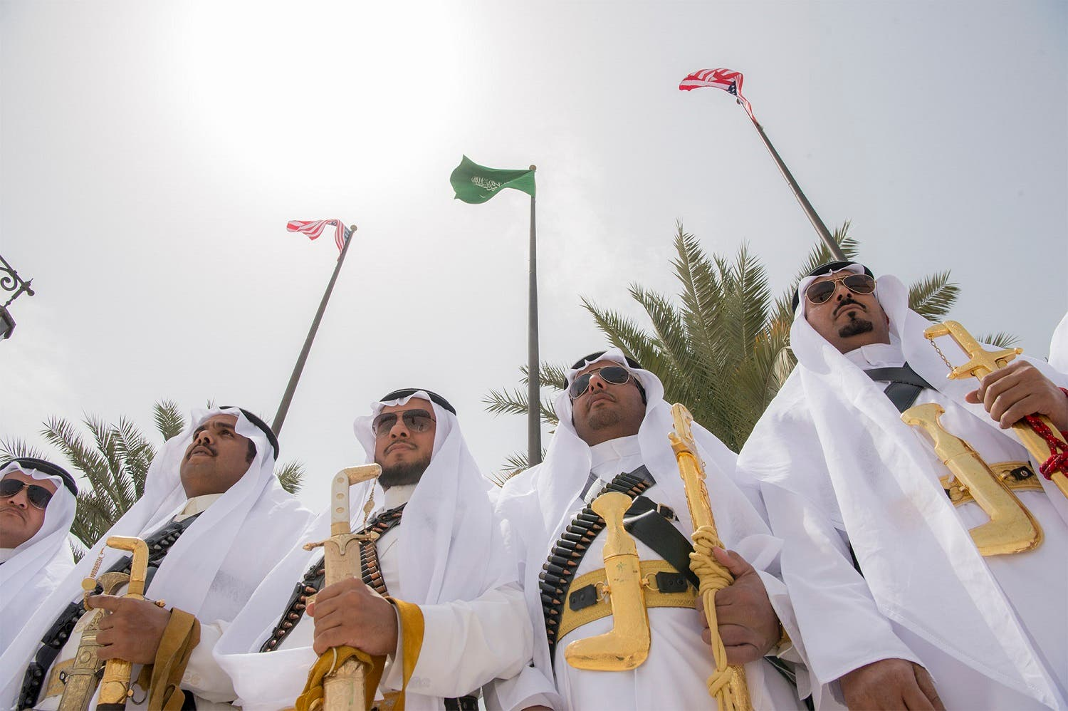 The Royal Guards or 'Al-Lakhawiya' as they are called in Arabic, is an ancient tradition mentioned during the reign of King Abdul Aziz, and was established in 1925, with military functions. (Supplied)