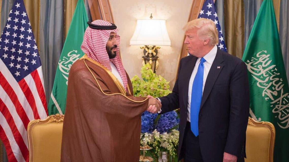 ولي ولي العهد السعودي الأمير محمد بن سلمان والرئيس الأميركي دونالد ترمب في البيت الأبيض