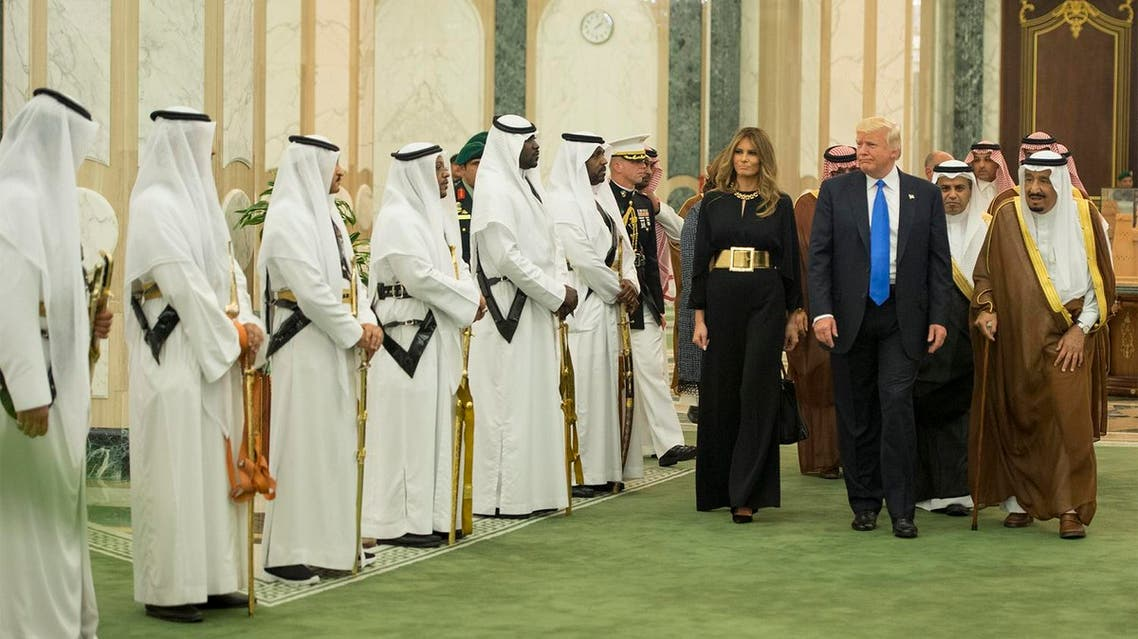 The reception ceremony performed by the royal guards symbolizes Saudi traditions and the protocols are part of welcoming the guest. (Supplied)