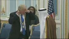 Trump gets the King Abdulaziz Medal in special ceremony
