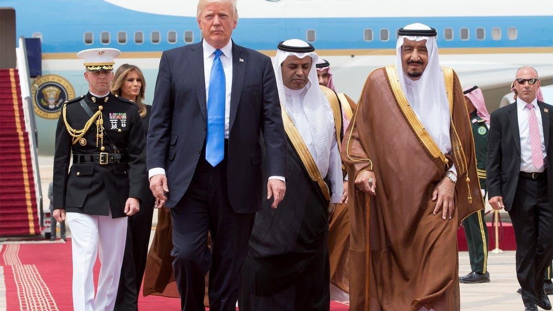 الملك سلمان يستقبل ترمب