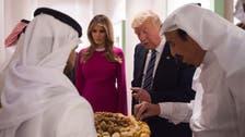 Melania, Donald Trump sample traditional Saudi dates and coffee