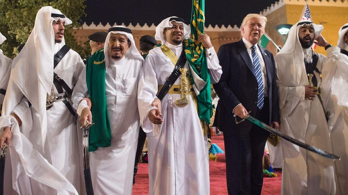 Trump visits King Abdulaziz Cultural Centre, takes part in ardha dance
