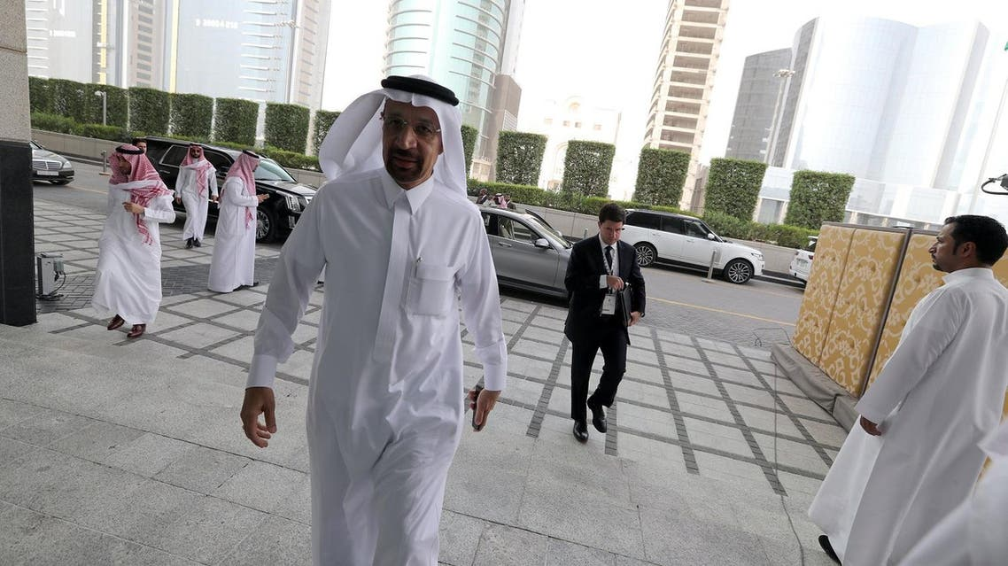 Saudi Energy Minister Khalid al-Falih arrives to attend the Saudi-US CEO Forum 2017 in Riyadh on May 20, 2017. (Reuters)