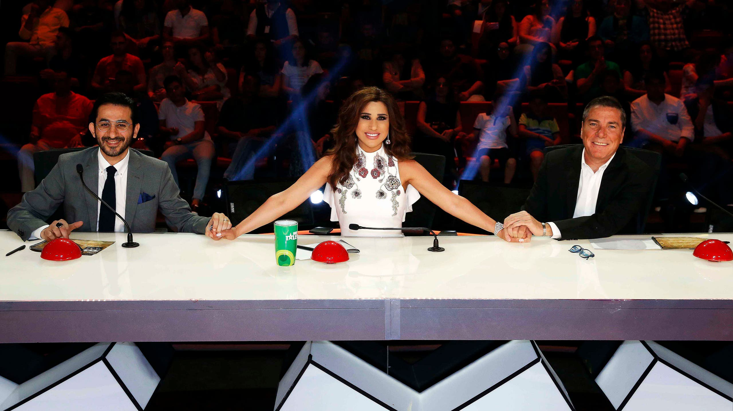The judges of Arabs Got Talent. (Screengrab)
