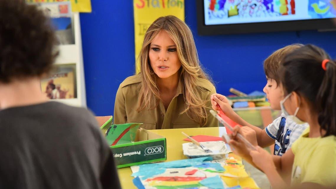 AFP melania trump in american school, riyadh