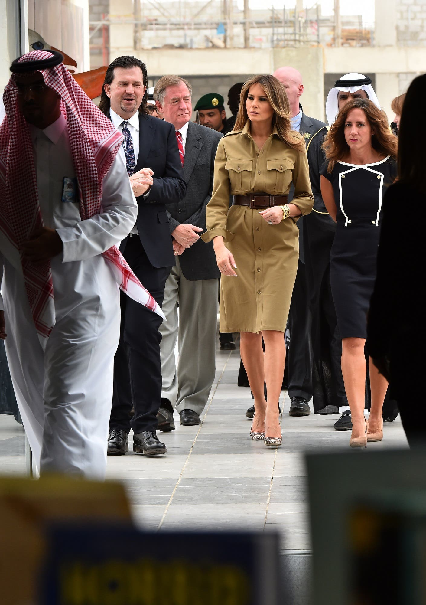 AFP melania trump in american school, riyadh