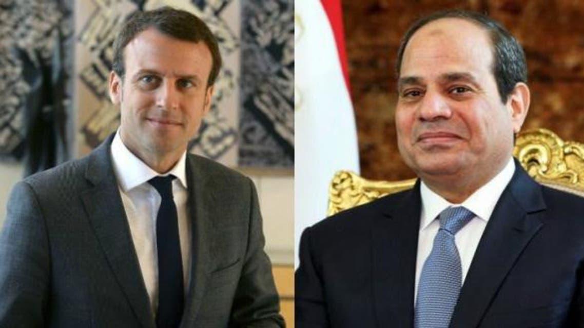السيسي و ماكرون مصر و فرنسا 3