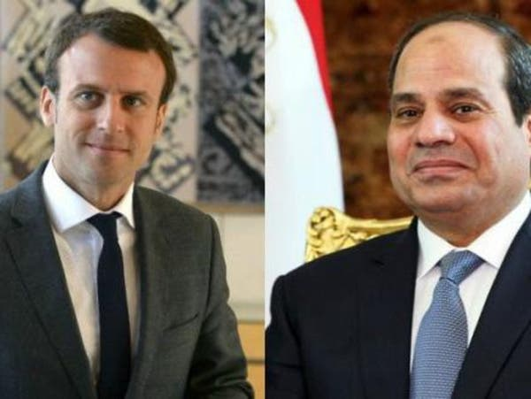 السيسي وماكرون يرفضان التدخلات الخارجية في ليبيا