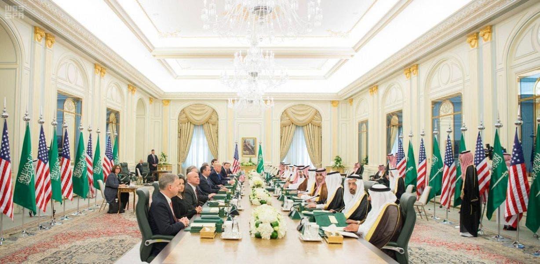 جانب من المباحثات السعودية الأميركية