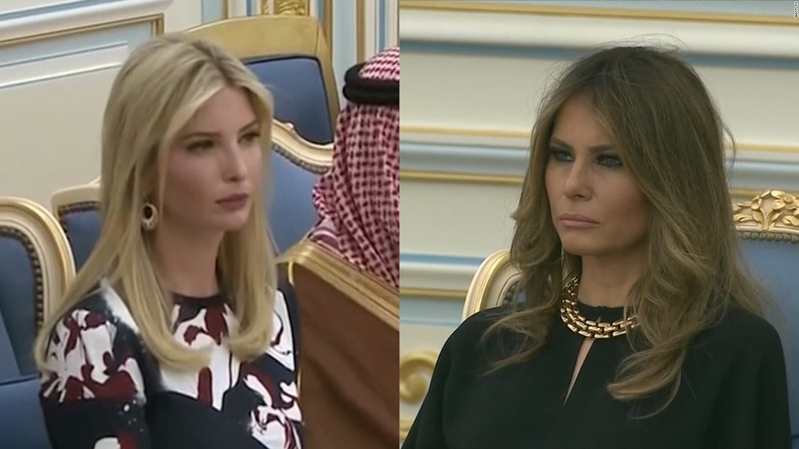 ميلانيا وإيفانكا في الرياض
