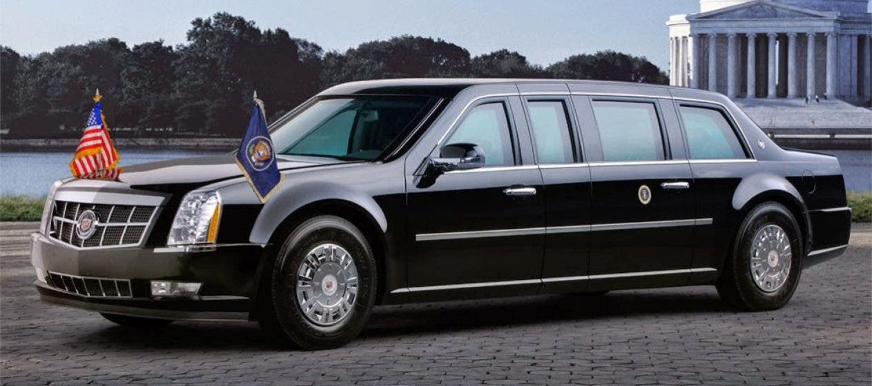 The Cadillac One, nicknamed 'The Beast', used by US presidents on their official trips abroad. (AP)