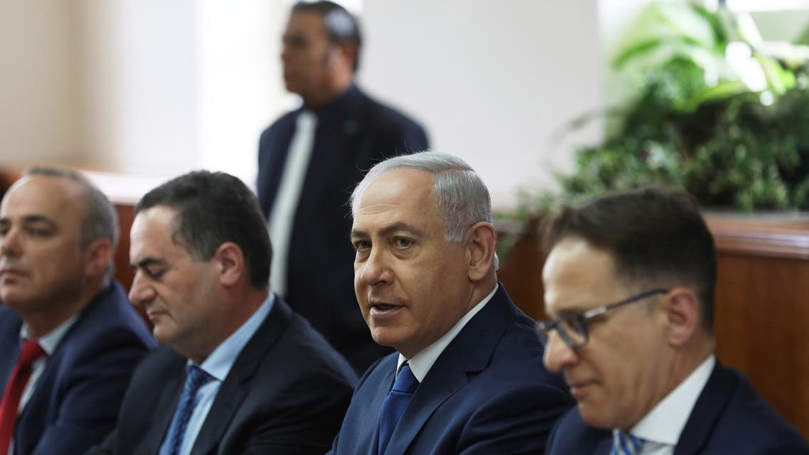 Israeli Prime Minister Benjamin Netanyahu attends a weekly cabinet meeting in Jerusalem May 21, 2017. (Reuters)