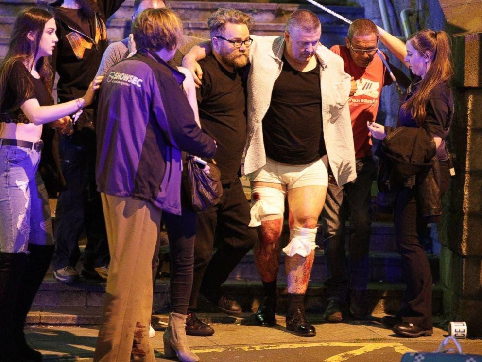 من موقع الانفجار في مانشستر أرينا
