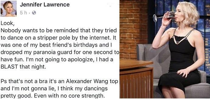 تبريرها الفيسبوكي لرقصها الخليع ورفضها الاعتذار، وصورة وهي تحتسي كأسا