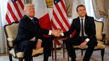 أول لقاء يجمع ترمب وماكرون في بروكسل