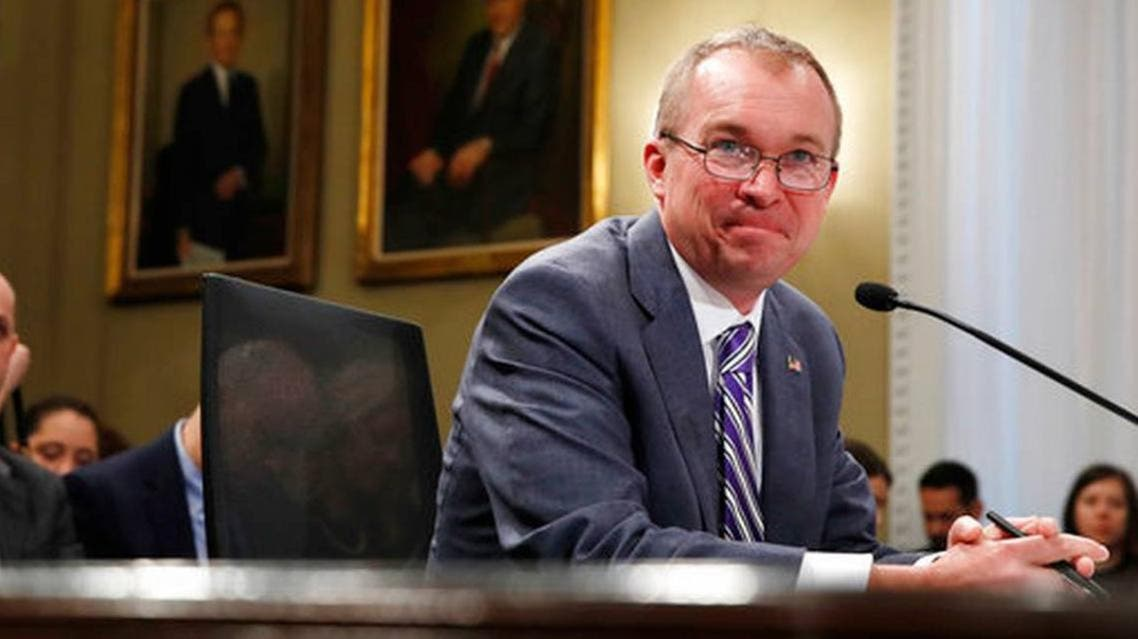 Budget Director Mick Mulvaney listens to a question while testifying on Capitol Hill in Washington. (AP)