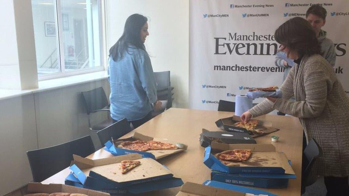 Manchester Evening News pizza