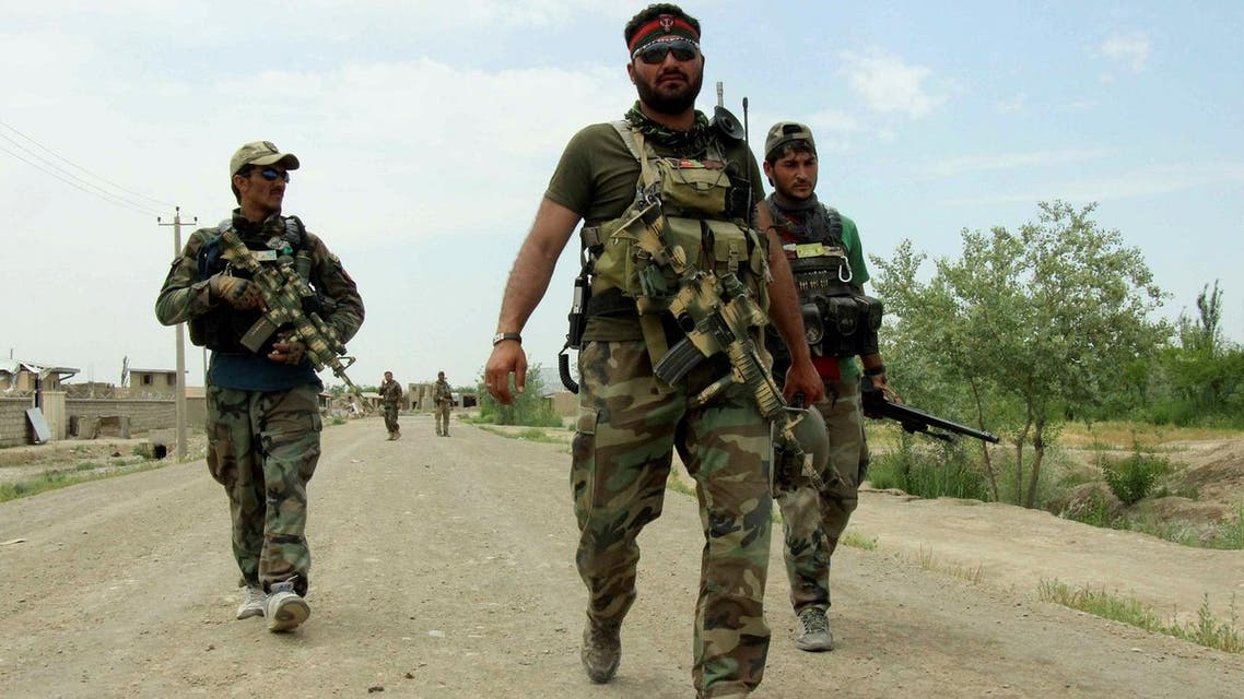 Members of Afghan commando unit in Qala-i-Zal, the district to the northwest of Kunduz, Afghanistan May 16, 2017. (Reuters)
