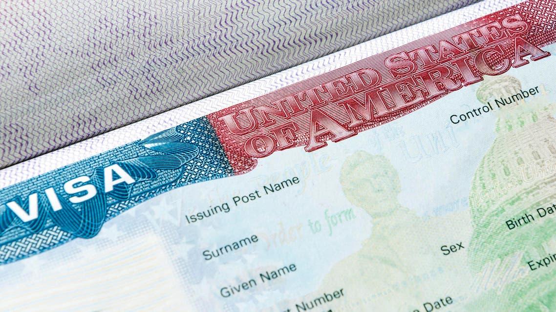 USA visa in passport