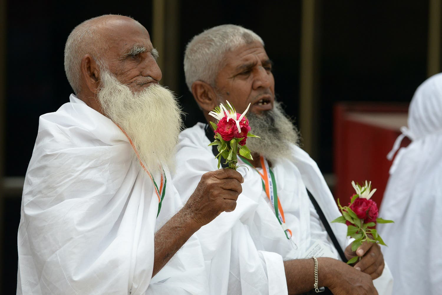 Indian pilgrims prior to departure to Mecca for Hajj at airport in Ahmedabad on September 2, 2015. (AFP)