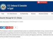 مفاجأة..سفارة أميركا بمصر حذرت قبل يومين من هجوم إرهابي