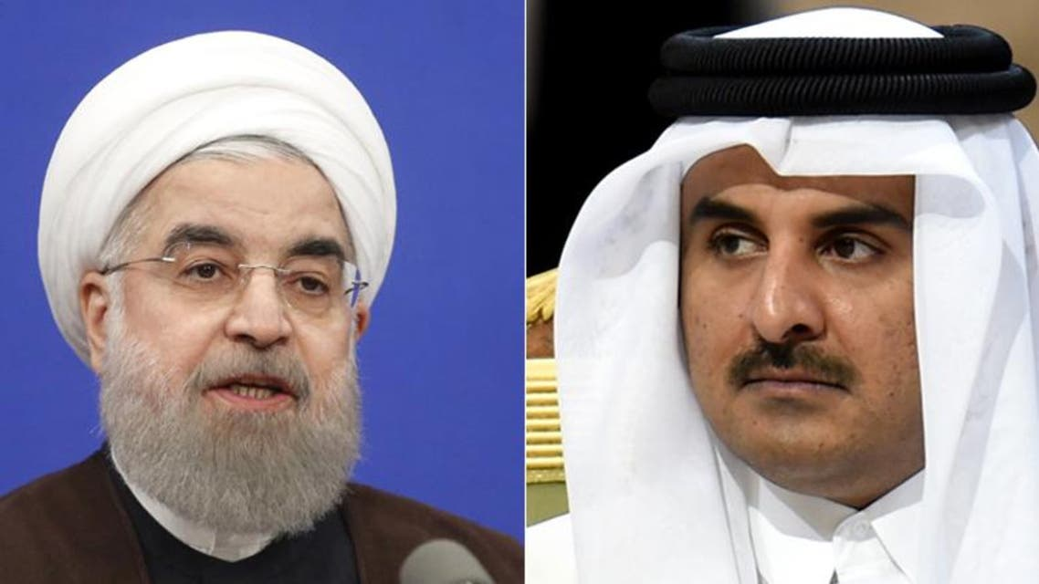 Iranian President Rouhani received a call from Qatari Emir Tamim Al Thani on Saturday, according to the official website of the Iranian presidency. (AFP)