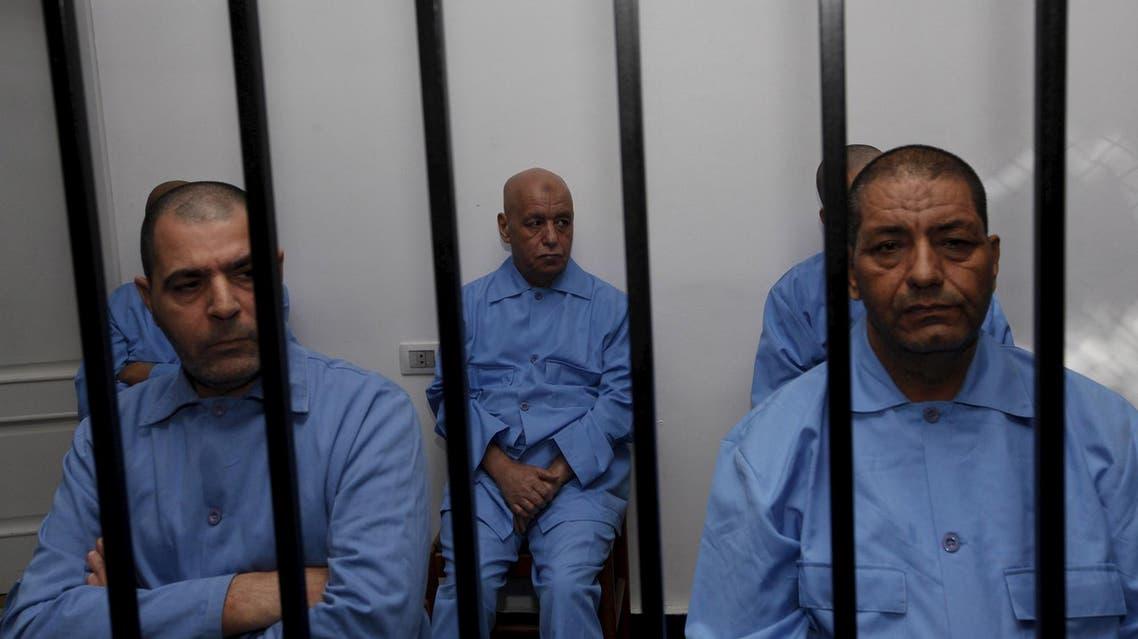 Reuters photo memebrs of Qaddafi in Tripoli prison